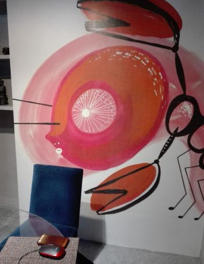 """Tapeta """"Rak Księżycowy"""" w galerii Tapetah w Sao Paulo (Brazylia)"""